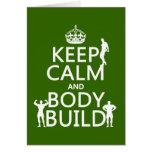 Guarde la estructura de la calma y de cuerpo (el f tarjeton