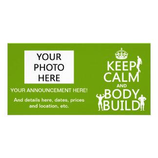 Guarde la estructura de la calma y de cuerpo (el f tarjetas personales