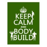 Guarde la estructura de la calma y de cuerpo (el f postal