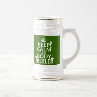 Guarde la estructura de la calma y de cuerpo (el f tazas de café