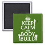 Guarde la estructura de la calma y de cuerpo (el p imán para frigorifico