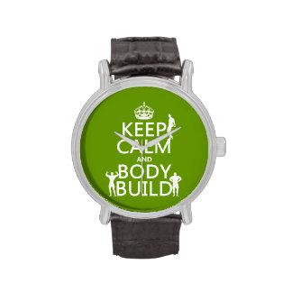 Guarde la estructura de la calma y de cuerpo el p relojes de pulsera