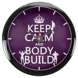 Guarde la estructura de la calma y de cuerpo (el reloj acuario