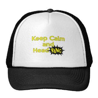 Guarde la explosión tranquila y principal gorras