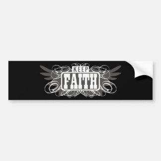 Guarde la fe pegatina de parachoque