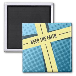 Guarde la fe imán cuadrado
