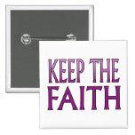 Guarde la fe pin