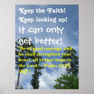 """""""Guarde la fe!"""" poster"""