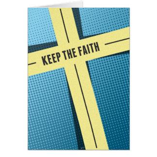 Guarde la fe tarjetón