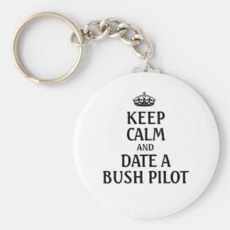 Guarde la fecha tranquila un piloto de Bush Llaveros