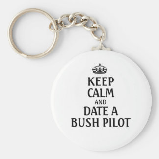 Guarde la fecha tranquila un piloto de Bush Llavero Redondo Tipo Pin