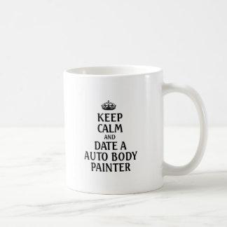 Guarde la fecha tranquila un pintor auto del taza