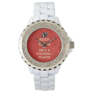 Guarde la fecha tranquila un reloj del esmalte del