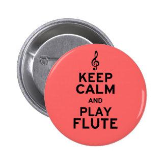 Guarde la flauta de la calma y del juego pin