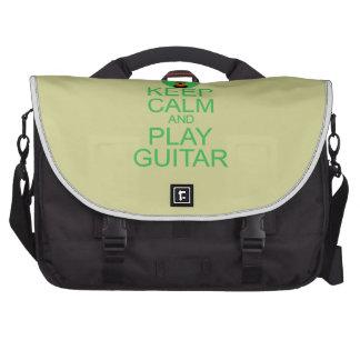 Guarde la guitarra de la calma y del juego bolsas de portatil
