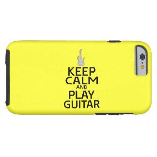 Guarde la guitarra eléctrica de la calma y del funda de iPhone 6 tough