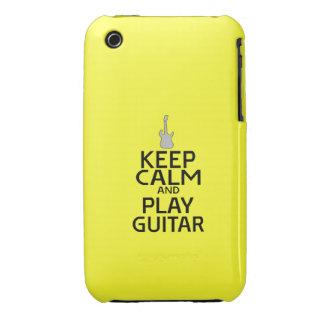 Guarde la guitarra eléctrica de la calma y del Case-Mate iPhone 3 carcasa