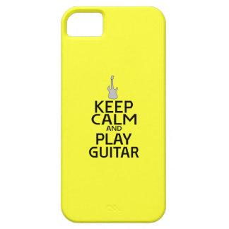 Guarde la guitarra eléctrica de la calma y del iPhone 5 Case-Mate fundas