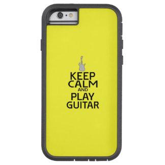 Guarde la guitarra eléctrica de la calma y del funda de iPhone 6 tough xtreme