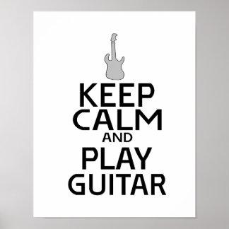 Guarde la guitarra eléctrica de la calma y del póster