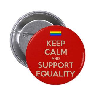 guarde la igualdad tranquila de la ayuda pin redondo 5 cm
