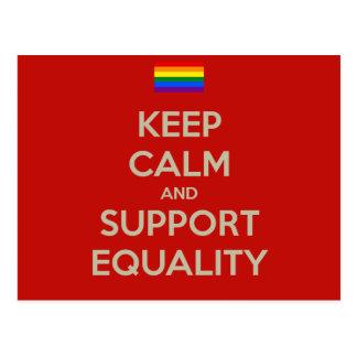 guarde la igualdad tranquila de la ayuda tarjeta postal