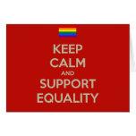 guarde la igualdad tranquila de la ayuda tarjetón