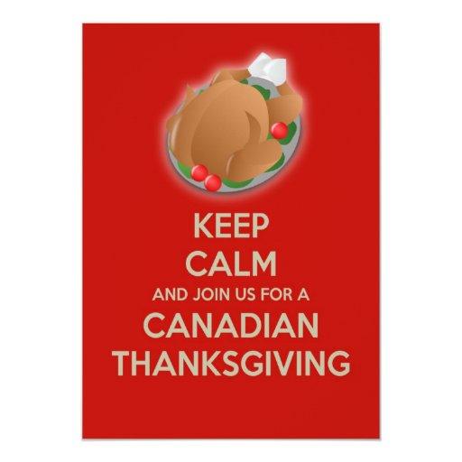 Guarde la invitación canadiense tranquila de la invitación 12,7 x 17,8 cm