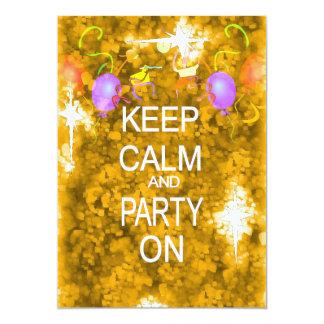 Guarde la invitación tranquila del fiesta invitación 12,7 x 17,8 cm