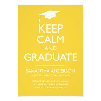 Guarde la invitación tranquila y graduada -