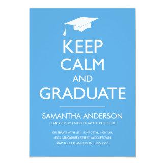 Guarde la invitación tranquila y graduada - azul