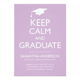 Guarde la invitación tranquila y graduada - lila