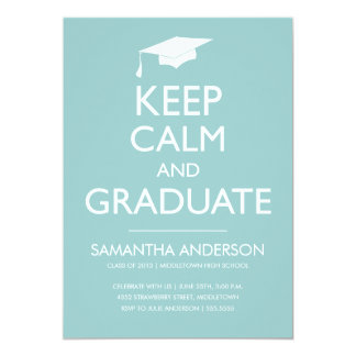 Guarde la invitación tranquila y graduada - menta