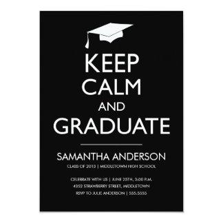 Guarde la invitación tranquila y graduada - negro