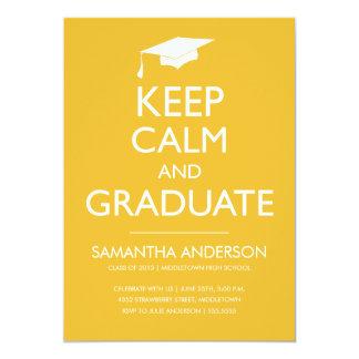 Guarde la invitación tranquila y graduada - oro