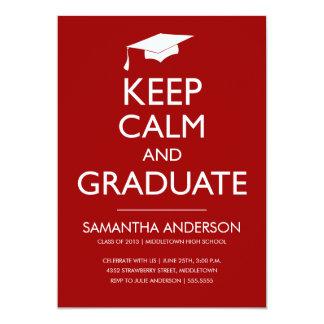 Guarde la invitación tranquila y graduada - rojo