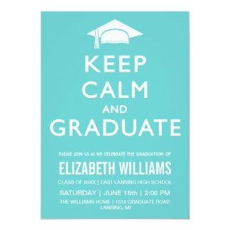 Guarde la invitación tranquila y graduada - trullo