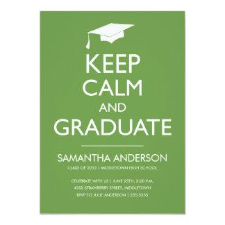 Guarde la invitación tranquila y graduada - verde