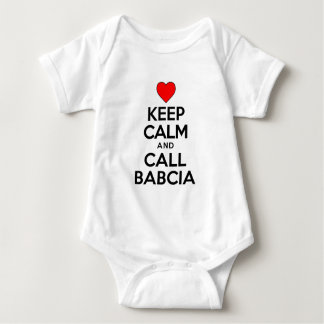 Guarde la llamada tranquila Babcia Body Para Bebé