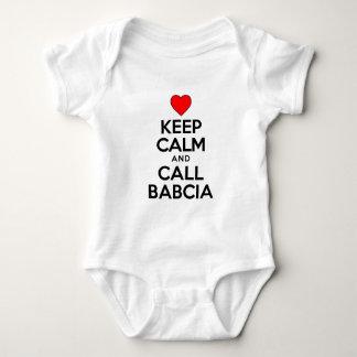 Guarde la llamada tranquila Babcia Mameluco De Bebé