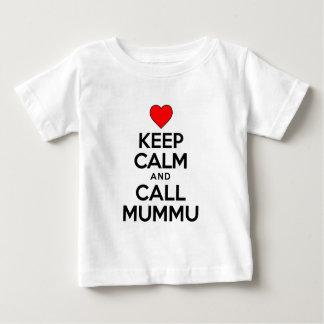 Guarde la llamada tranquila Mummu Playera De Bebé