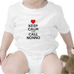 Guarde la llamada tranquila Nonno Traje De Bebé