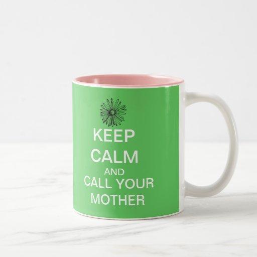 Guarde la llamada tranquila su taza de café de la