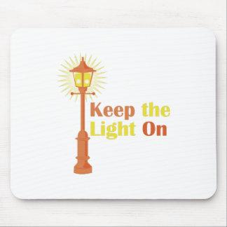 Guarde la luz encendido mouse pad