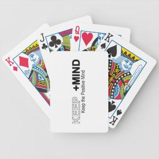 Guarde la mente positiva baraja de cartas