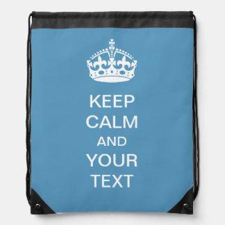 Guarde la mochila azul personalizada tranquila del