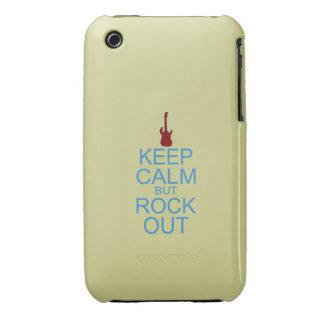 Guarde la parodia tranquila de la roca hacia fuera carcasa para iPhone 3