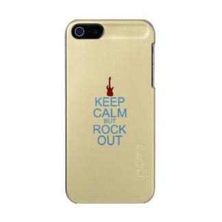 Guarde la parodia tranquila de la roca hacia fuera funda para iPhone 5 incipio feather shine