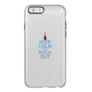 Guarde la parodia tranquila de la roca hacia fuera funda para iPhone 6 plus incipio feather shine