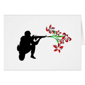Guarde la paz tarjeta de felicitación
